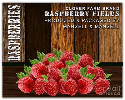 Raspberry Mixed Media - Raspberry Fields Forever by Marvin Blaine