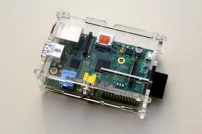 Circuit Photograph - Raspberry Pi Micro-computer by Victor De Schwanberg