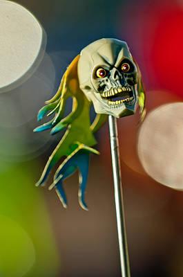 Skull Photograph - Rat Rod Antenna Skull  by Jill Reger