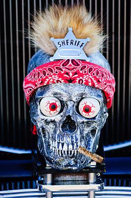 Skull Photograph - Rat Rod Skull Hood Ornament 2 by Jill Reger