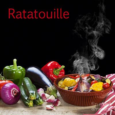 Eggplant Photograph - Ratatouille Concept by Colin and Linda McKie