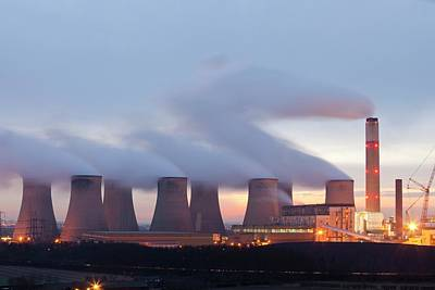 Grey Clouds Photograph - Ratcliffe On Soar Coal Power Station by Ashley Cooper