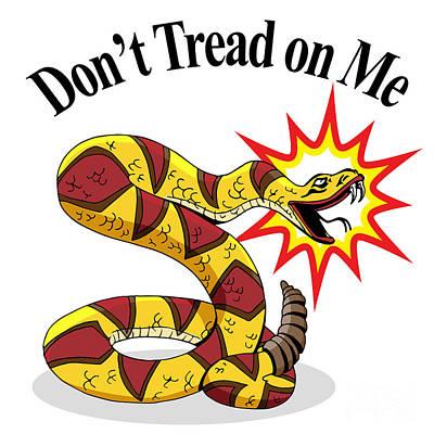 Diamondback Digital Art - Rattlesnake Dont Tread On Me by John Takai