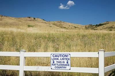 Rattlesnake Photograph - Rattlesnake Warning Sign by Jim West