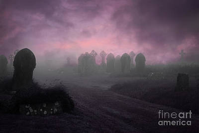 Rave In The Grave Print by Terri Waters