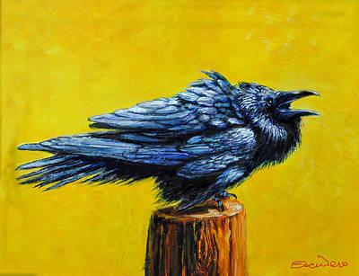 Raven Caw Original by Ron Escudero
