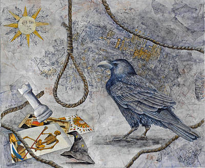Tower Of London Mixed Media - Raven Lore by Sandy Clift