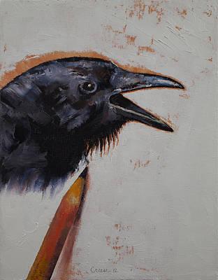 Raven Sketch Print by Michael Creese