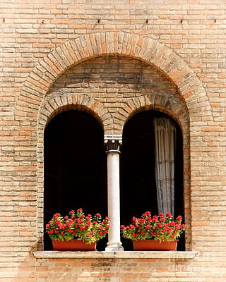 With Red. Photograph - Ravenna Window by Kate McKenna