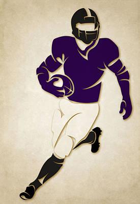 Ravens Shadow Player Print by Joe Hamilton
