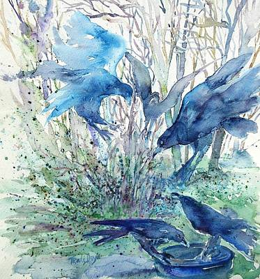 Mystic Setting Painting - Ravens Wood by Trudi Doyle
