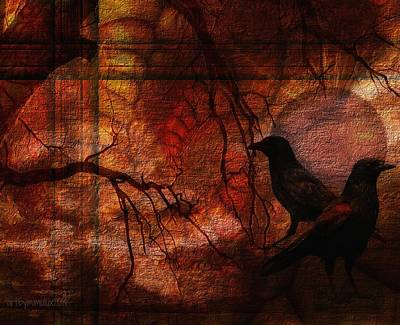 Ravens World Edited Print by Mimulux patricia no