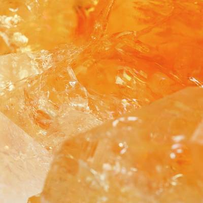 Citrine Photograph - Raw Citrine Crystal by Science Photo Library