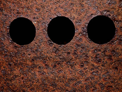 Realism Photograph - Raw Steel...oxidation by Tom Druin