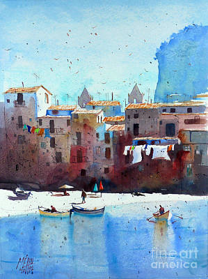 Rawer At Cefalu Print by Andre MEHU