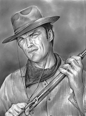 Clint Drawing - Rawhide by Greg Joens