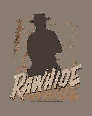 Cattle Drive Digital Art - Rawhide by Brand A