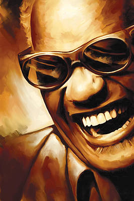 Songwriter Mixed Media - Ray Charles Artwork 1 by Sheraz A