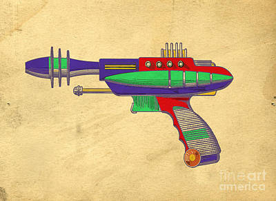 Ray Gun Patent Art Print by Edward Fielding