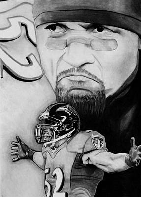 Ray Lewis Print by Jason Dunning
