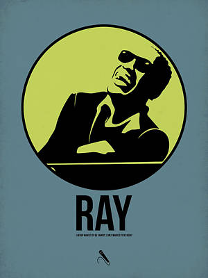 Jazz Mixed Media - Ray Poster 2 by Naxart Studio