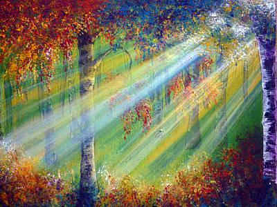 Autumn Painting - Rays by Ann Marie Bone