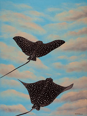 Eagle Ray Painting - Rays Of Heaven by Matthew Haddaway
