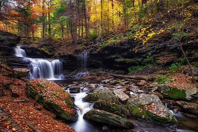 Horizontal Photograph - R.b. Ricketts Falls by Mark Papke