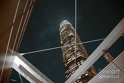Reach For The Hong Kong Sky Print by T Lang