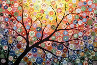 Lively Painting - Reaching For The Light by Amy Giacomelli