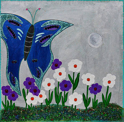 Reaching For The Moon Print by Donna Blackhall