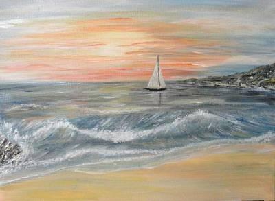Reaching Horizon And Beyond... Print by Corina Blejan Lupascu