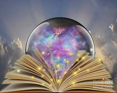 Orbs Photograph - Read A Book by Cheryl Young