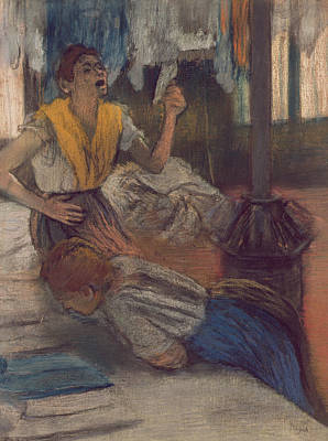 Aghast Painting - Reading A Letter by Edgar Degas