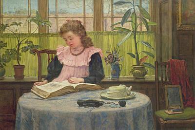 Knitting Photograph - Reading by Elias Mollineaux Bancroft