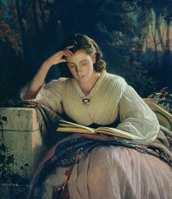 Music Book Painting - Reading by Ivan Nikolaevich Kramskoy