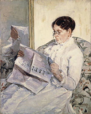 People Painting - Reading Le Figaro by Celestial Images