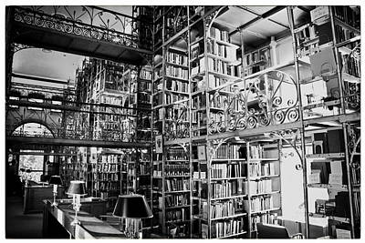 Reading Room At Cornell University Print by Georgia Fowler