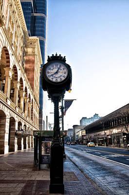 Phillies Digital Art - Reading Terminal Clock - Market Street by Bill Cannon