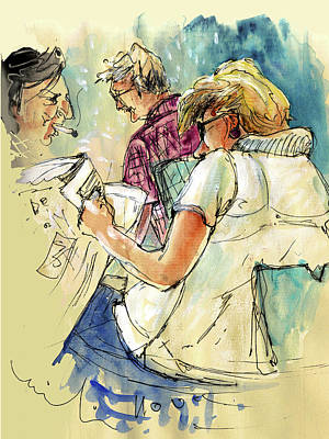 Reading The News 06 Print by Miki De Goodaboom