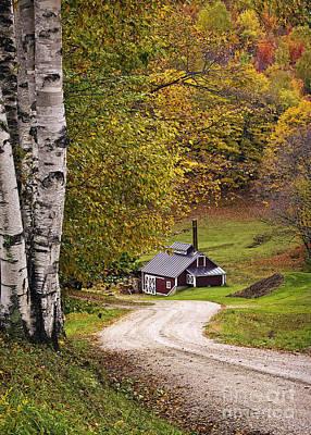 Reading Vermont Sugar Shack Print by Priscilla Burgers