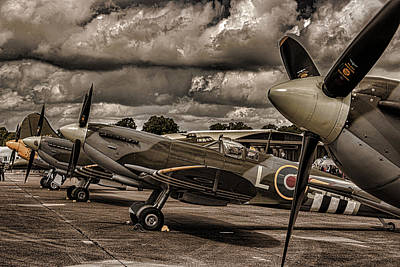 Spitfire Photograph - Ready For Action by Martin Newman