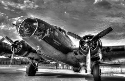 Nose Art Photograph - Ready For Takeoff 3 Bw by Mel Steinhauer
