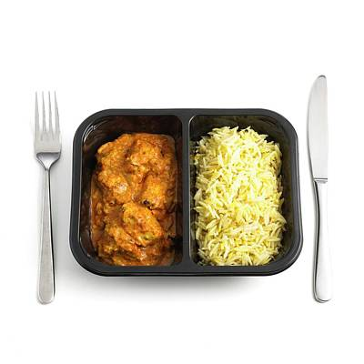 Ready Meal Curry And Rice Print by Science Photo Library