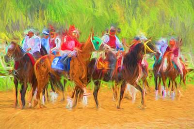 Racetrack Digital Art - Ready To Load by Alice Gipson