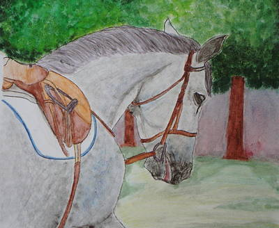 Horses Painting - Ready To Ride by CA Lemieux
