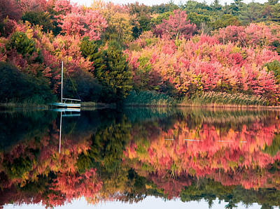 Ready To Sail In The Fall Colors Print by Jeff Folger