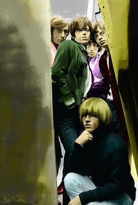 Musicians Drawing - Real Exile The Brian Jones Rolling Stones  by Iconic Images Art Gallery David Pucciarelli