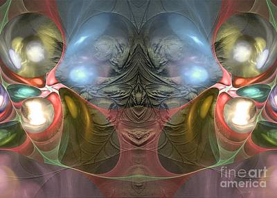 Green Digital Art - Real Joy Is A Serious Matter - Surrealism by Sipo Liimatainen