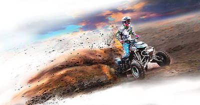 Real Quad Bike Fun Print by Ronel Broderick